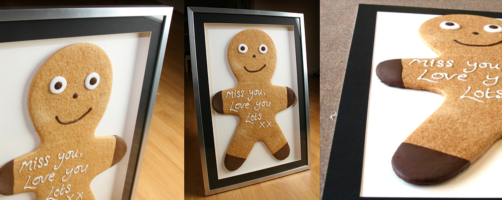 We frame anything even a real Gingerbread Man!