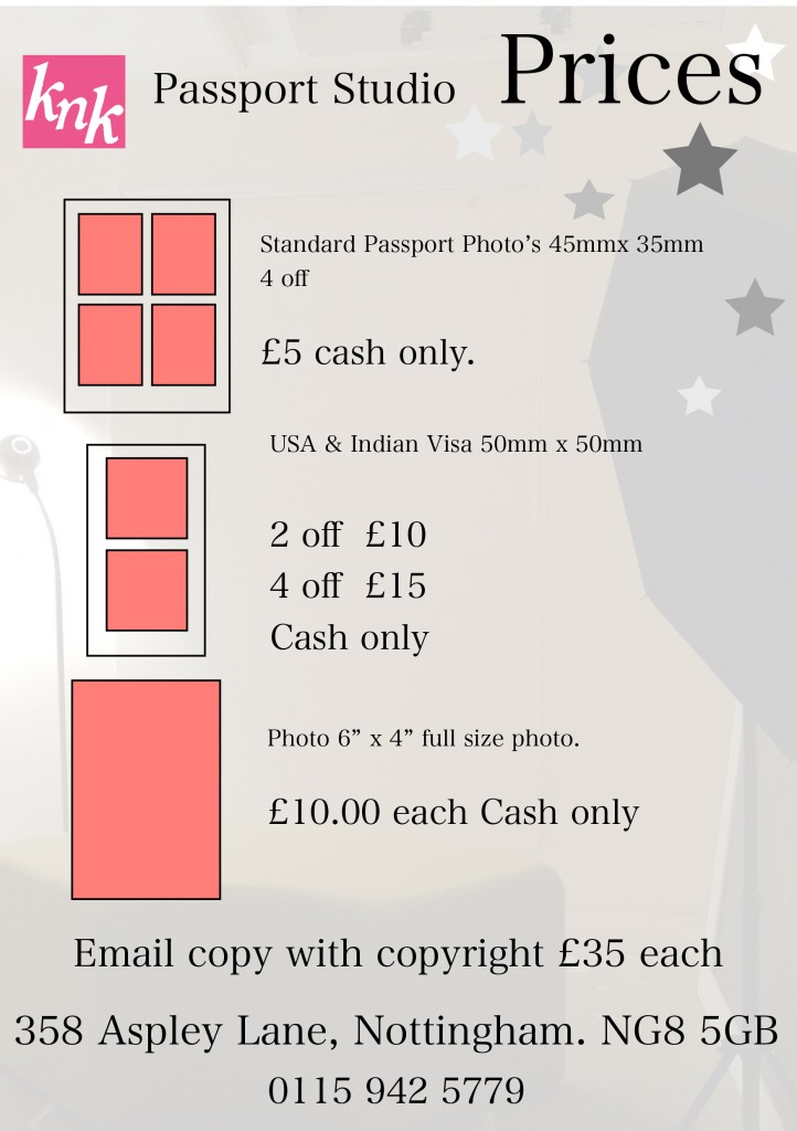 passport price list