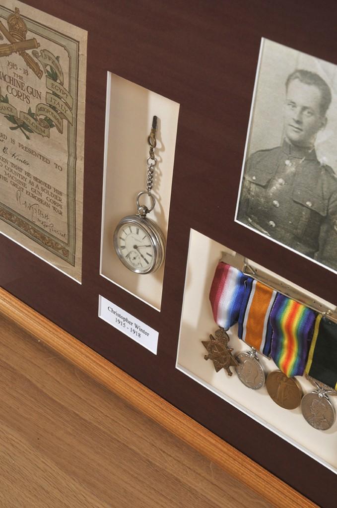 medals framing